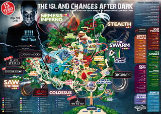Thorpe Park Fright Nights 2016 Park Map | by ThemeParkMedia