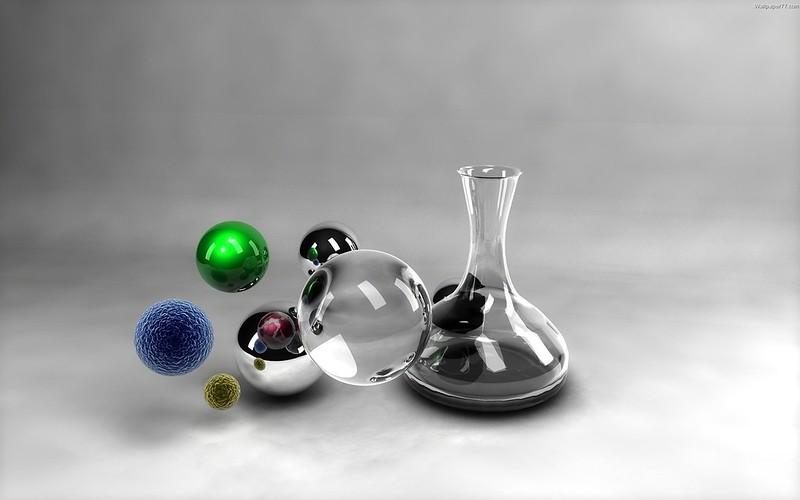 Обои пробирка, сосуд, шары, исследование, система картинки на рабочий стол, фото скачать бесплатно