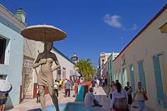 'girl with umbrella' sculpture - Holguín - Holguín Province, Cuba - Feb 2019