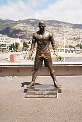 Statue of Cristiano Ronaldo- Outside museum dedicated to him - Funchal, Madeira