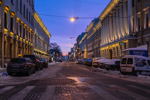 landscape russia nature saintpetersburg city outdoor town snow old morning blue colorful building sunrise art purple house winter sky cityscape architecture street frost style landscapes outdoors russian leningradoblast ru