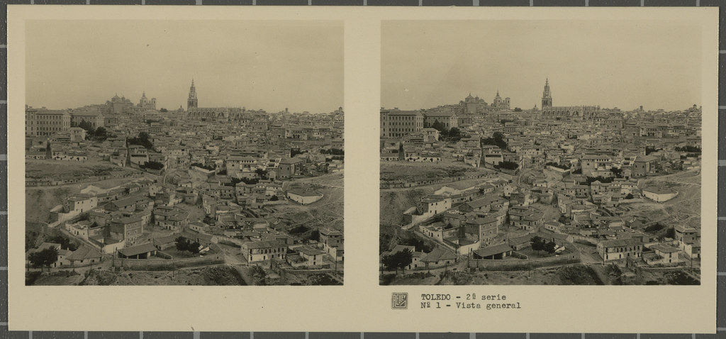 Vista general de Toledo. Colección de fotografía estereoscópica Rellev © Ajuntament de Girona / Col·lecció Museu del Cinema - Tomàs Mallol
