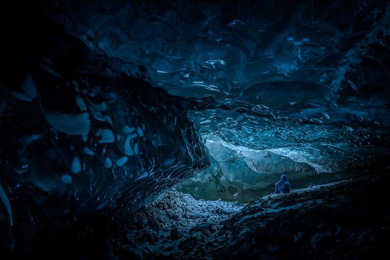 Grotte de glace dans le Svinafellsjökull