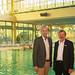 Das Wellenhallenbad in Bad Zwischenahn wird mit 2,618 Millionen Euro aus Berlin saniert - hier ich bei einem gemeinsamen Besuch mit Bürgermeister Arno Schilling.