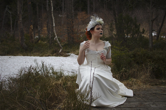 Mariée hiver backstage