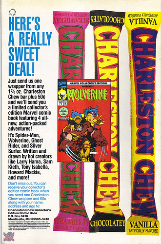 "CHARLESTON CHEW ::  ""HERE'S A REALLY SWEET DEAL!"" Limited Edition Marvel Comic (( 1992 )) 