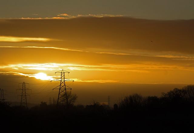 sunrise - Riverside Valley Park, Exeter, Devon - Jan 2019