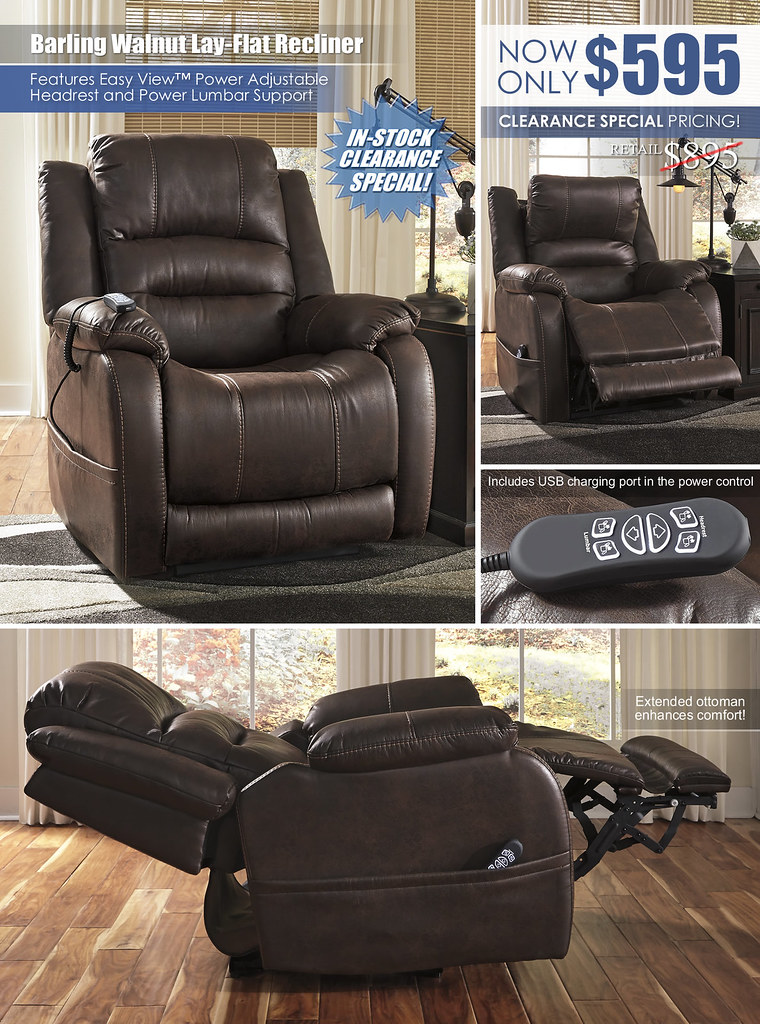 Barling Walnut Lay Flat Recliner_Clearance_68802-13-LAY-FLAT