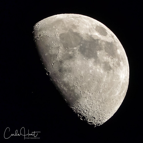 Last night's moon over my house, Vernon, BC | by carlahuntphotography