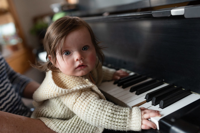 Greta on the Piano