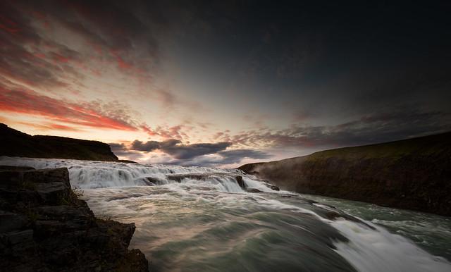 Twilight at Gullfoss