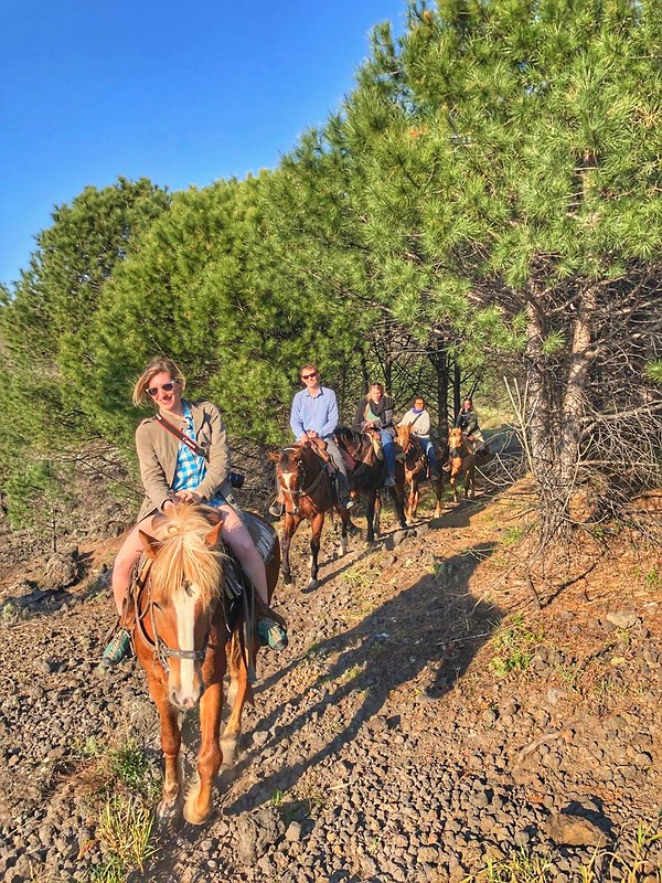 Horseback riding my vesuvius