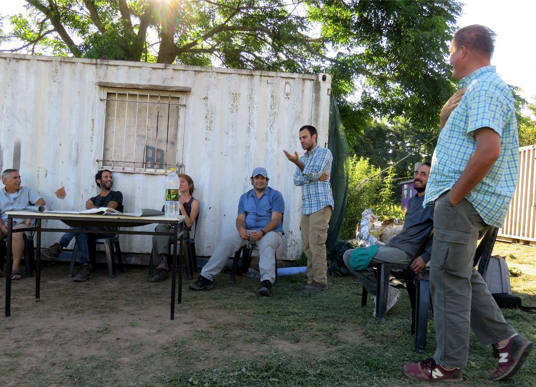 Jeronimo Valle, Intendente del Parque Nacional Ciervo de los Pantanos Explicando sus ideas