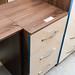 Walnut and gloss new stock 3 door wide locker E80