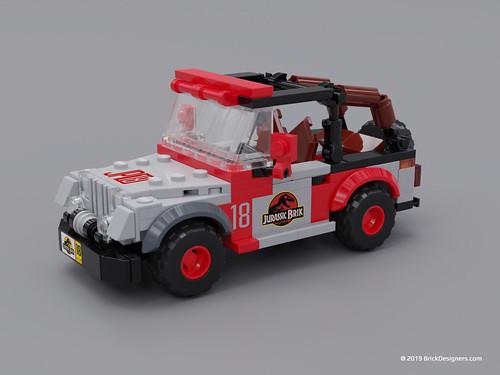 Jurassic Brik Jeep