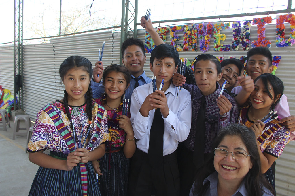 Guisela and students
