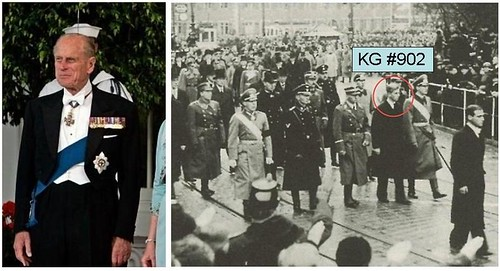 KG 902 Prince Philip circled is pictured with relatives_wearing Nazi Uniforms 1937 Knight of the Garter | by arthur.strathearn