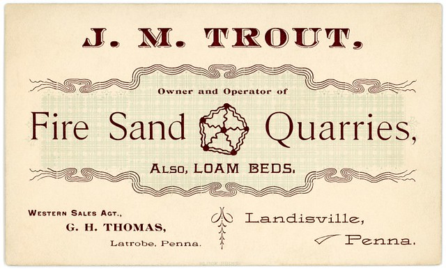 J. M. Trout, Fire Sand Quarries, Landisville, Pennsylvania, ca. 1890s