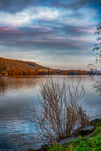 Sunset View the Seine River, Vernon, France-85a (This is a two photo merge to have both close up and distance in focus)