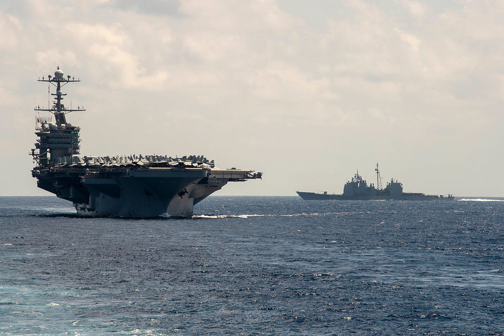 USS Stennis makes its approach to the USNS Diehl during re