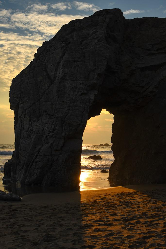 Coucher de soleil à Port-Blanc -