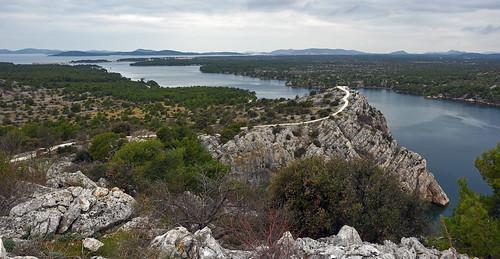croatia hrvatska dalmatia adriatic kanalsvante stanthonychannel strait sea channel outdoors hiking biking landscape
