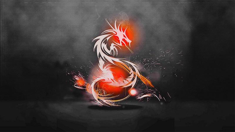 Обои дракон, фон, огонь, тень картинки на рабочий стол, фото скачать бесплатно