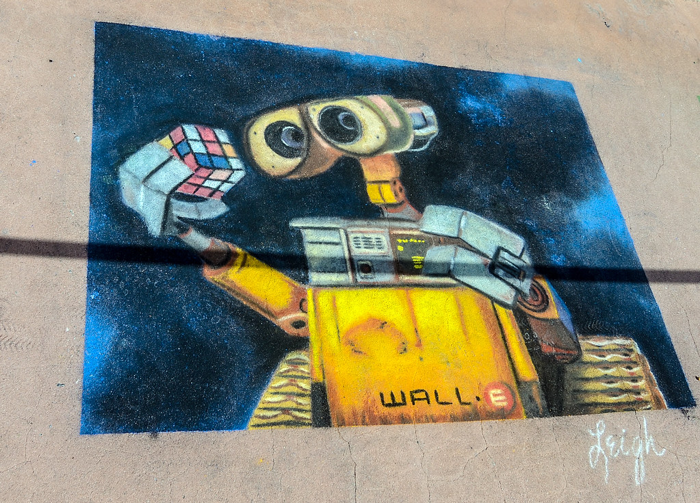Wall-E sidewalk art Epcot