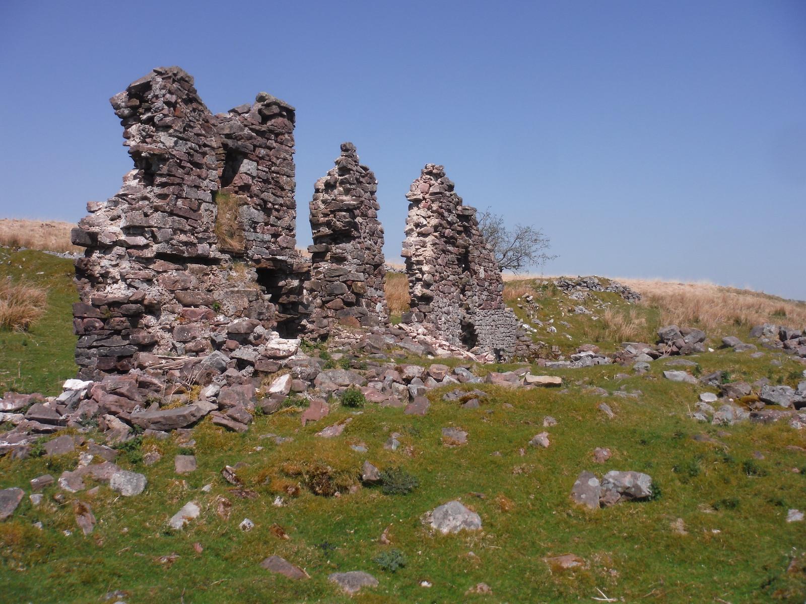 Ruined Farm Building SWC Walk 307 - Fforest Fawr Traverse (Craig y Nos to Llwyn-y-celyn) [Beacons Way Route]
