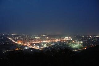 津山市中心市街地(夜景)