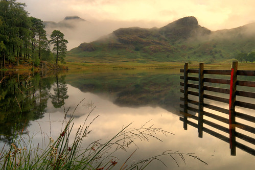 bleatarn reflections langdale lakedistrict lakedistrictnationalpark cumbria england unitedkingdom greatbritain lakeland view scenery landscape photography tranquil calm peaceful trees clouds woodland nature cloudy mountains sidepike green white
