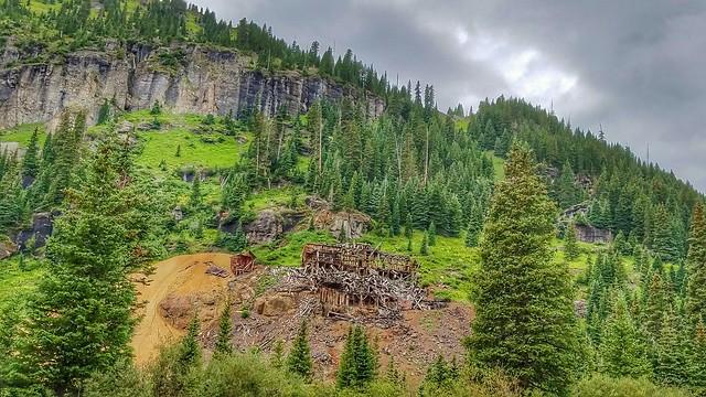 Atlas Mine Ruins in Yankee Boy Basin, Colorado.