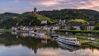 France - Cochem - moselle-river-motor-ships-boats-reichsburg   by monte-leone