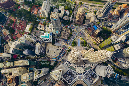 Aerial: Kuala Lumpur City Center from high above | by Mohamad Zaidi Photography