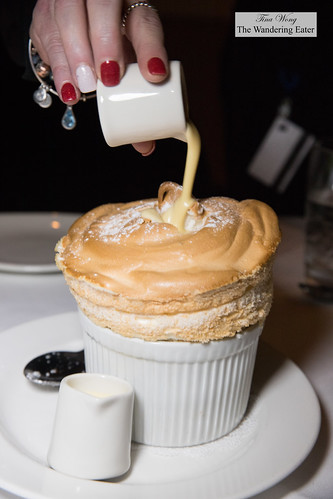 Grand Marnier soufflé with crème anglaise sauce | by thewanderingeater