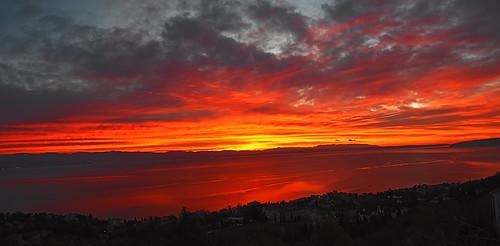 hrvatskacroatia istra istria kvarner lovran outdoors sunrise morning red sky sea