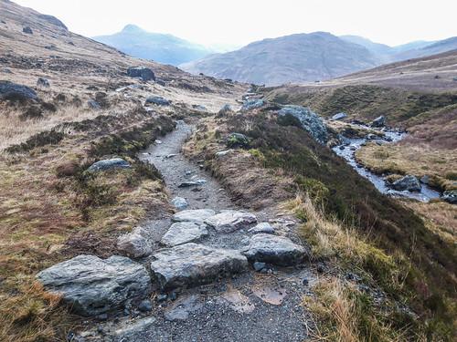 arrocharalps argyll scotland phone samsung a6 path ben lomond loch long rocks stone river altabhalachain hills mountains munro corbett gor44