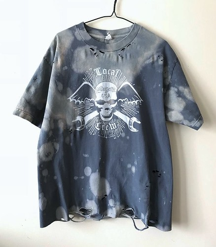 Splatter Bleached and Shredded Aerosmith T Shirt Large | by shopthegasstation