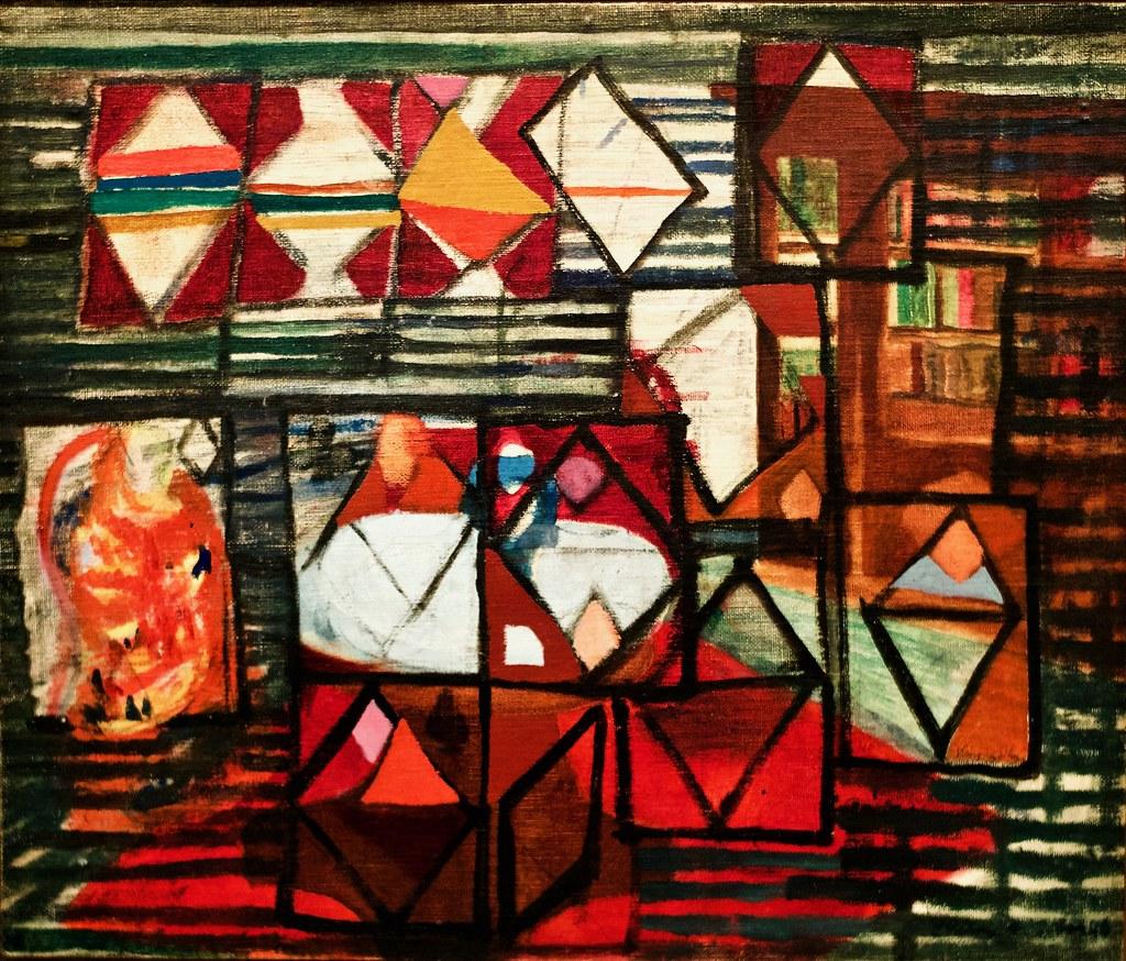 La table ronde (1940) - Vieira da Silva (1908-1992)