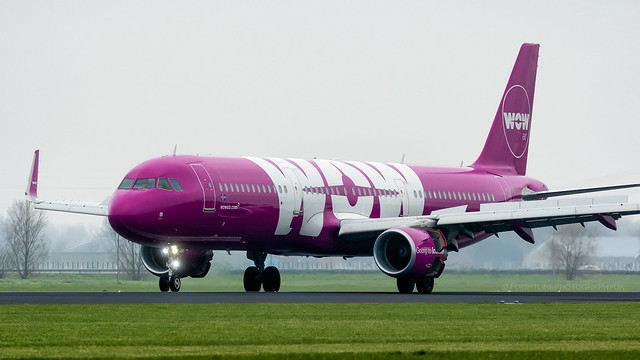 TF-GMA | Airbus A321 | Wow Air | Amsterdam Schiphol | March 2019