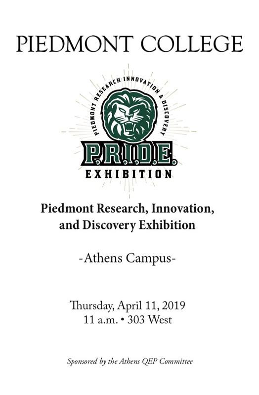 2019 Piedmont College Athens P.R.I.D.E.