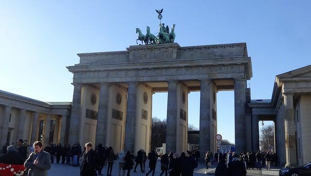 1788/91 Berlin klassizistisches Brandenburger Tor von Carl Gotthard Langhans Pariser Platz in 10117 Mitte