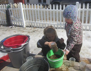 pouring mud into the pot | by lyn.schmucker