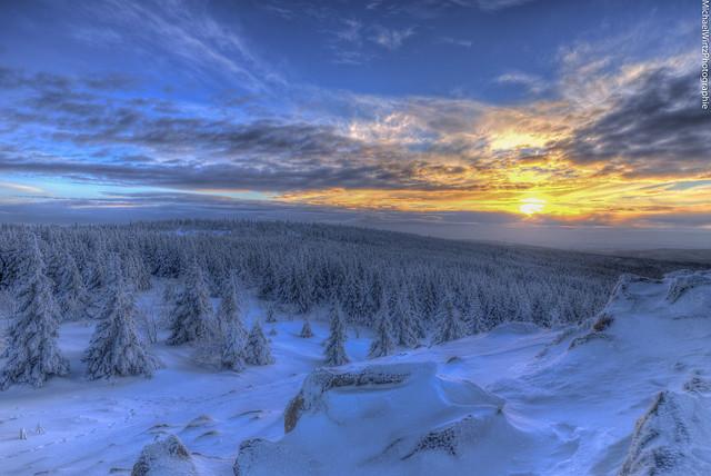 kurz vor Sonnenuntergang auf der Wolfswarte