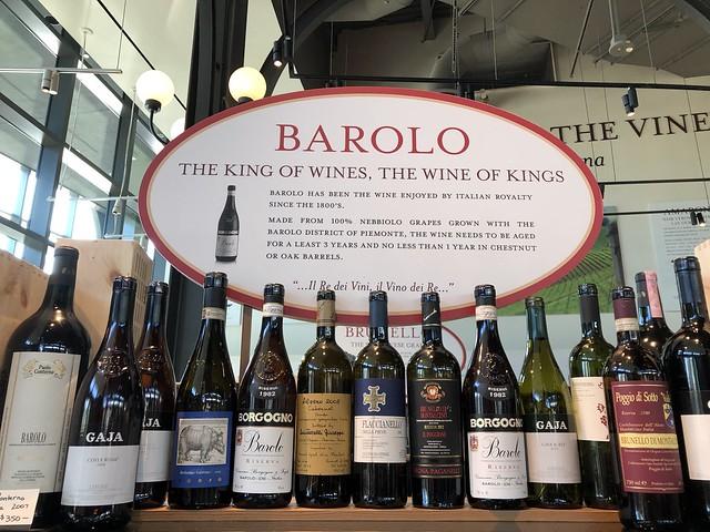 Barolo bottles