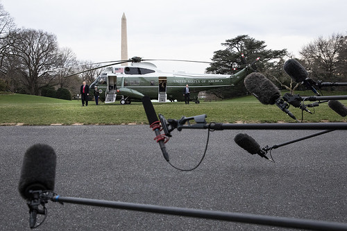 Marine One Lands on the South Lawn of the White House | by The White House