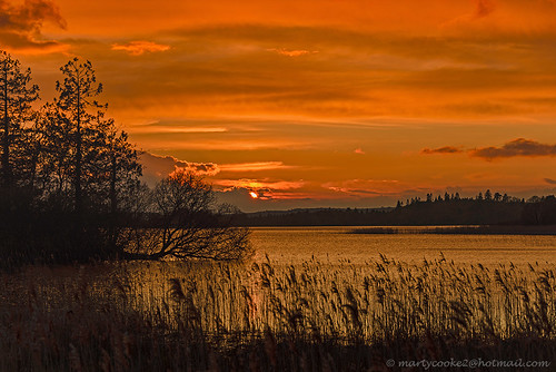 outdoor outside landscape landscapes lake water loughmeelagh sunset sunsets redskyatnight roscommon countyroscommon ireland connacht connaught