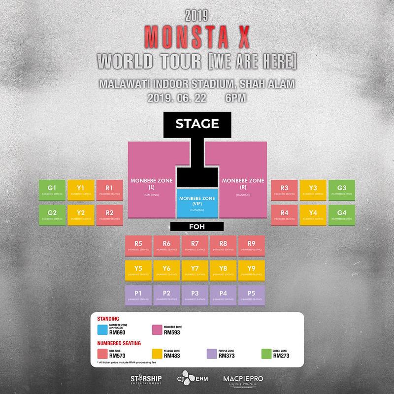 2019 Monsta X World Tour 'We Are Here' In Kuala Lumpur