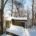 Entrance to Julien Dubuque monument in winter by PamelaDbq
