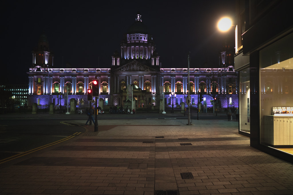 BELFAST CITY HALL AT NIGHT 013